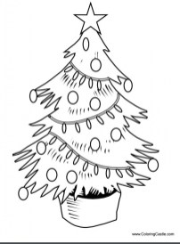 Online Christmas Tree Coloring Pages 70974