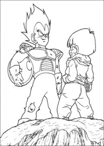 Online Dragon Ball Z Coloring Pages 58358