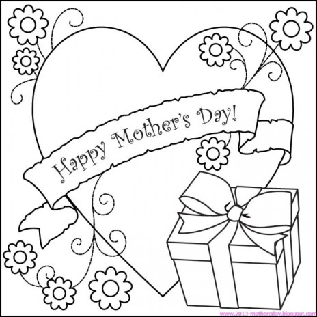 Online Mothers Day Coloring Pages to Print 40802