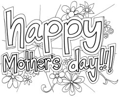 Online Mothers Day Coloring Pages to Print 52810