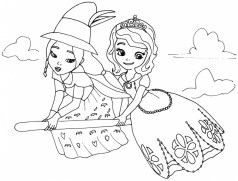 Online Sofia the First Coloring Pages 10236
