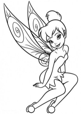 Online Tinkerbell Coloring Pages 31410