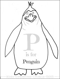 Penguin Coloring Pages for Kids 41740