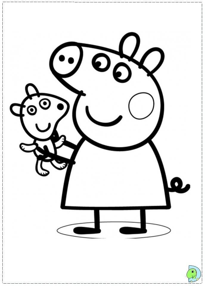 Peppa Pig Coloring Pages Free Printable   98392