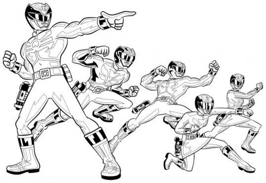 Power Rangers Megaforce Coloring Pages 29851