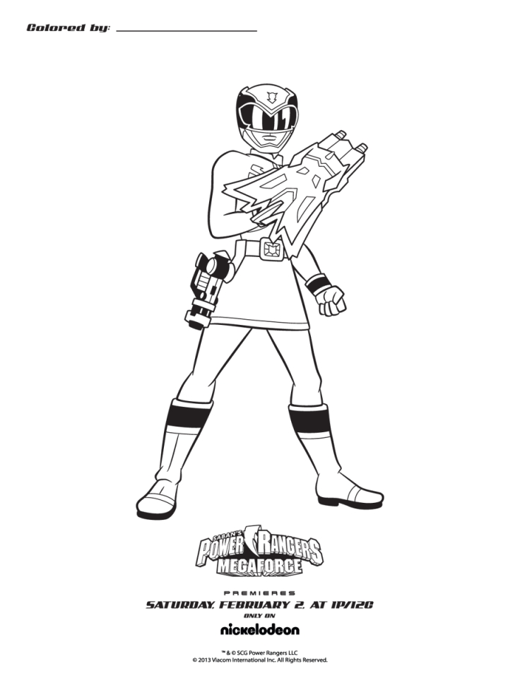 Power Rangers Megaforce Coloring Pages Free to Print 38906