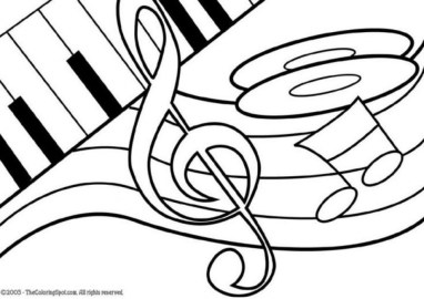 Preschool Printables of Music Coloring Pages Free 77105