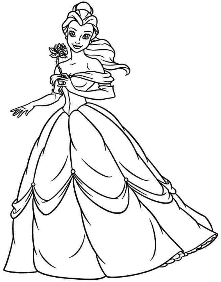 Princess Belle Coloring Pages to Print   84520