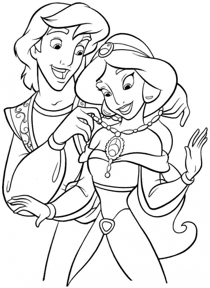 Princess Jasmine Printable Coloring Pages for Girls   461278
