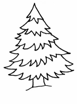 Printable Christmas Tree Coloring Pages 4419