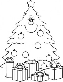 Printable Christmas Tree Coloring Pages for Children 67421