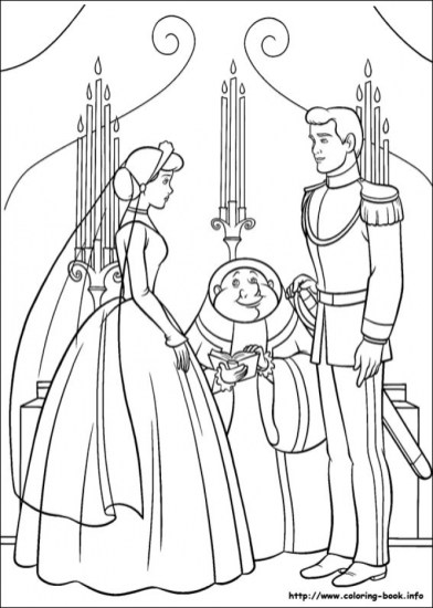 Printable Cinderella Coloring Pages 14694