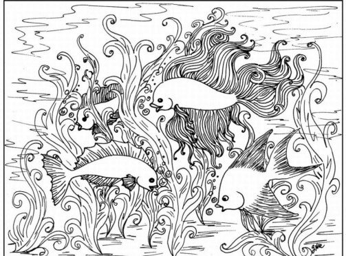 Printable Difficult Coloring Pages for Adults 83419