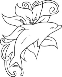 Printable Dolphin Coloring Pages 75612