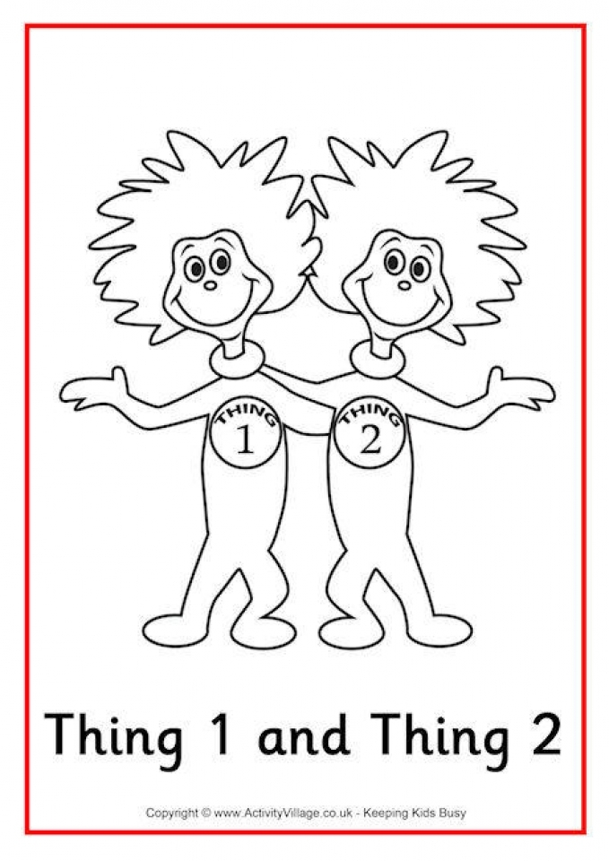 Cat In The Hat Coloring Pages For Kids | Dr seuss coloring pages ... | 960x679