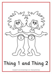 Printable Dr Seuss Coloring Pages Online 80651