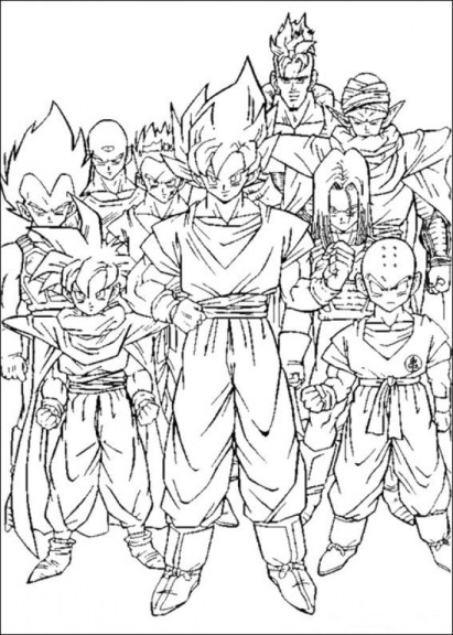 Printable Dragon Ball Z Coloring Pages 18009