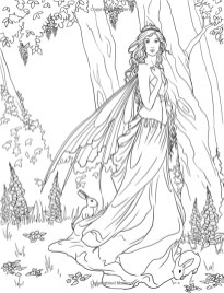 Printable Fairy Coloring Pages 3359