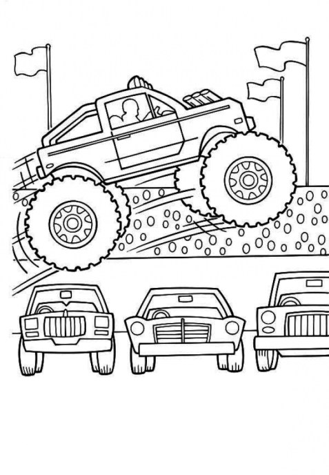 Printable Monster Truck Coloring Pages 23602