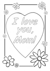 Printable Mothers Day Coloring Pages for Preschoolers 42894