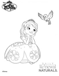 Printable Sofia the First Princess Coloring Pages for Girls 16739