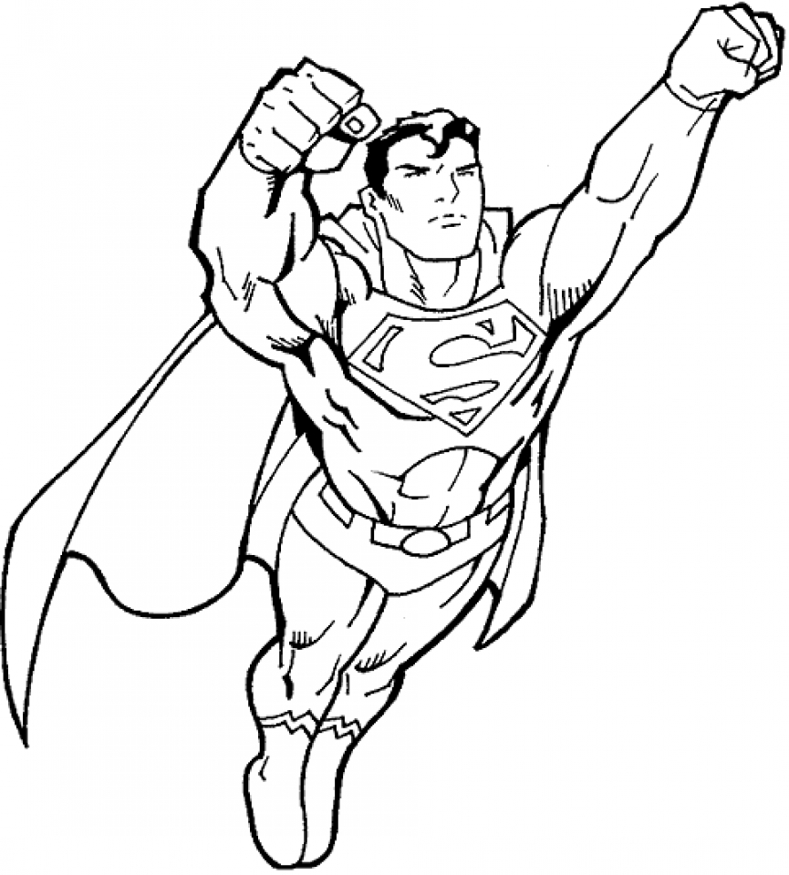 Coloring Page Superman