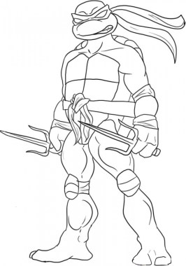 Printable Teenage Mutant Ninja Turtles Coloring Pages 18008