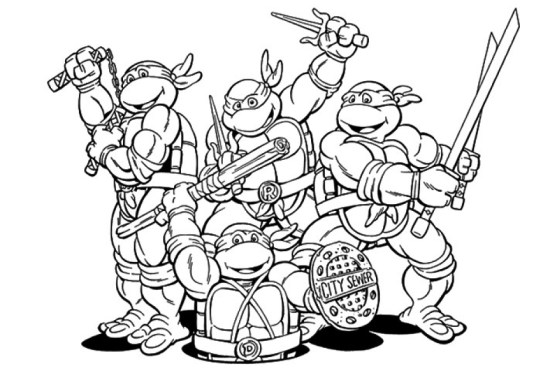 Printable Teenage Mutant Ninja Turtles Coloring Pages 6367