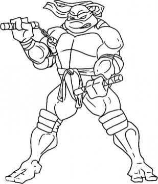 Printable Teenage Mutant Ninja Turtles Coloring Pages Online 46802