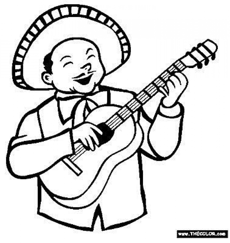 Printables for Toddlers   Cinco de Mayo Coloring Pages Online Free   63899