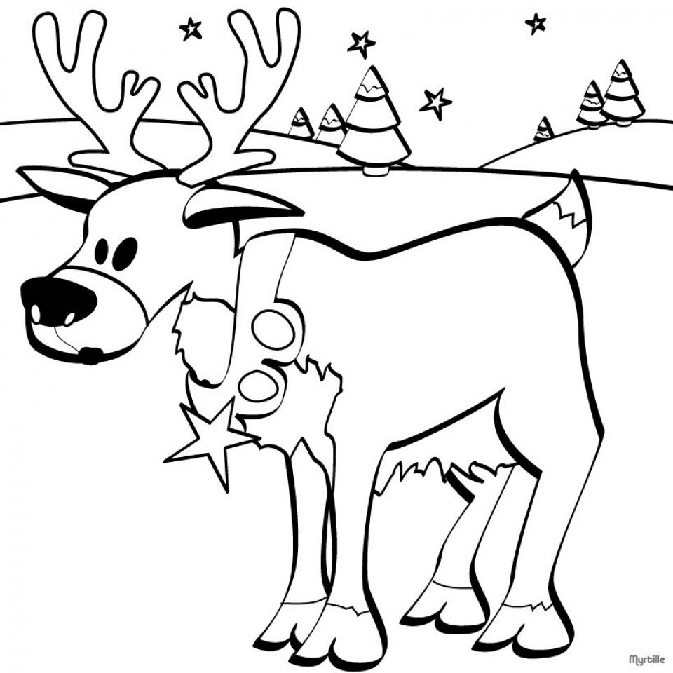 Reindeer Coloring Pages Online   76859