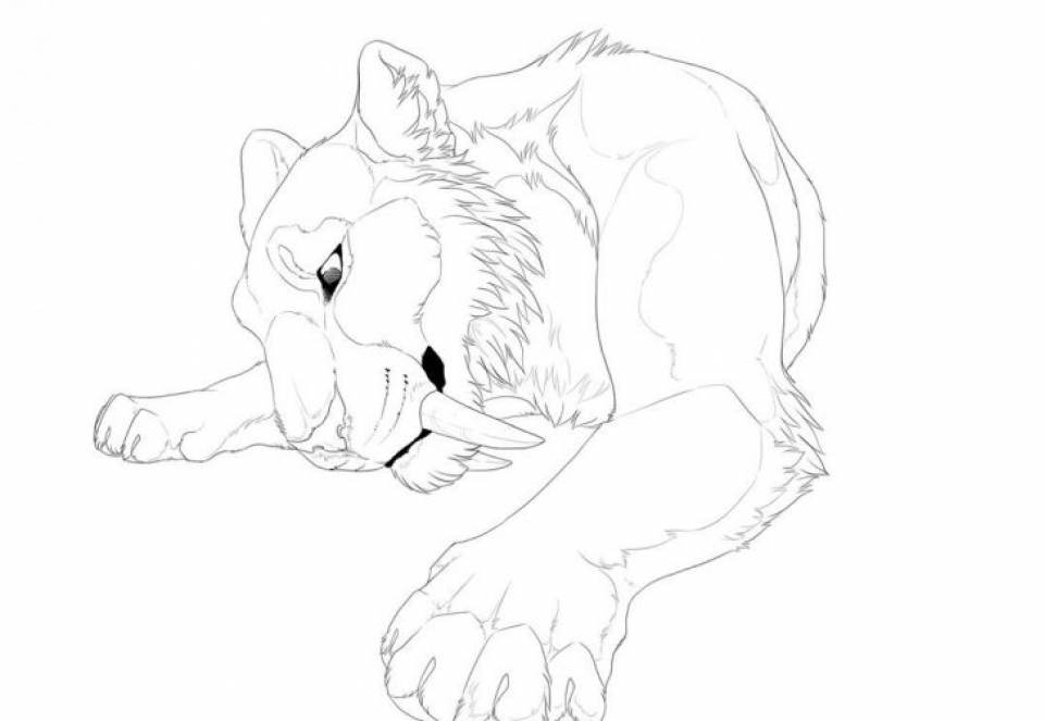 Saber Tooth Tiger Coloring Pages to Print   18461