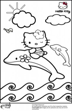 Sea Animal Coloring Pages of Dolphin To Print 21857