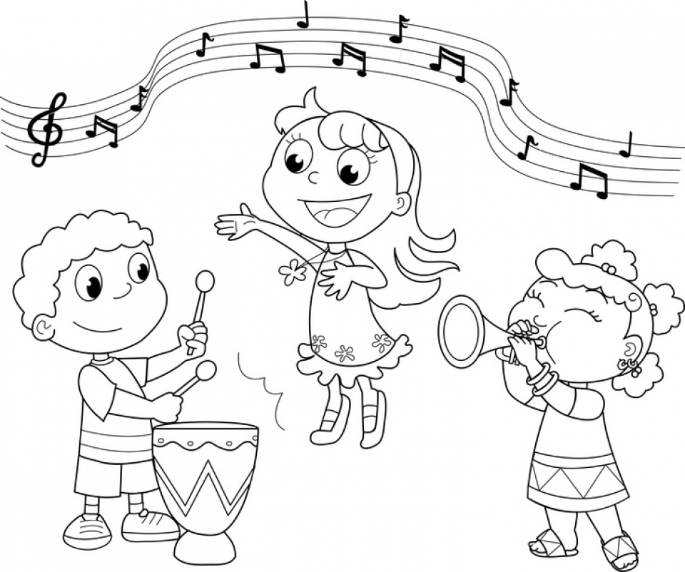 Get This Simple Music Coloring Pages To Print For Preschoolers 78504
