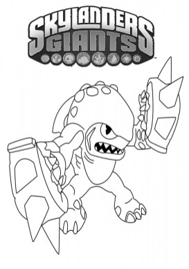 Skylander Coloring Pages Kids Printable 06732