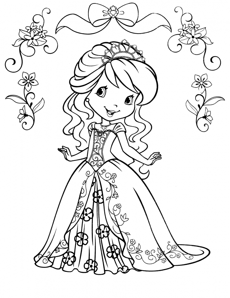 Strawberry Shortcake Coloring Pages for Girls   60192