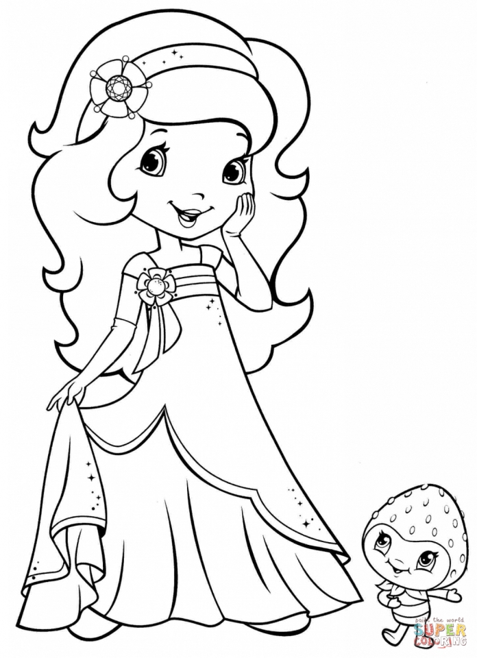 Strawberry Shortcake Printable Coloring Pages   05701