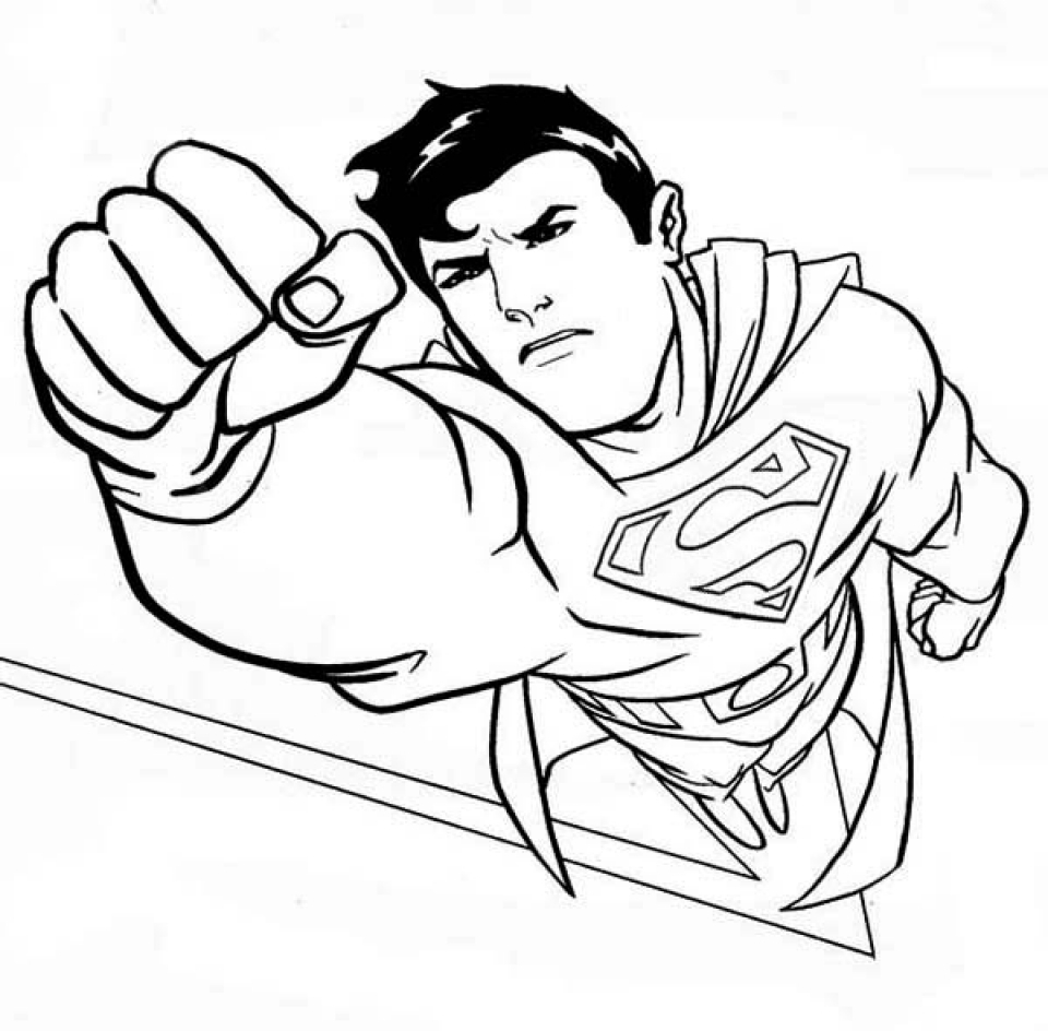 Get This Superman Coloring Pages Free Printable 35749
