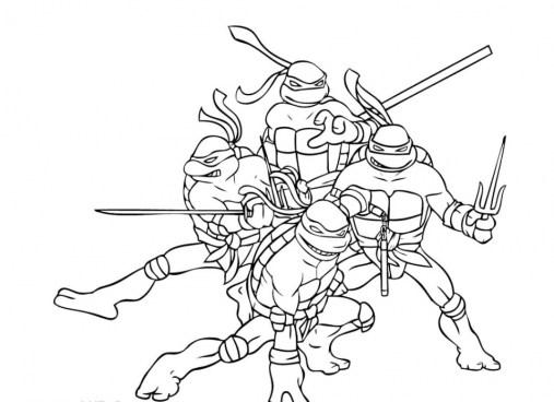 Teenage Mutant Ninja Turtles Coloring Pages Free Printable 9860