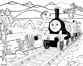 Thomas the Tank Engine Coloring Pages Free Printable 78516