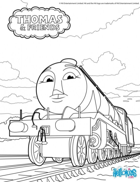 Thomas the Tank Engine Coloring Pages Free Printable 98612