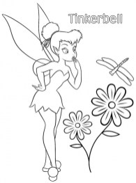 Tinker Bell Online Coloring Pages for Girls 81639