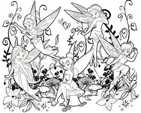 tinkerbell fairy coloring pages to print out - 62715