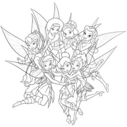 tinkerbell fairy coloring pages to print out for girls - 42571