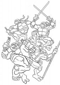 TMNT Ninja Turtles Coloring Pages Printable 38791
