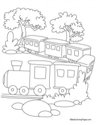 Train Coloring Pages Free Printable 51772