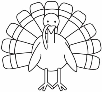 Turkey Coloring Pages for Preschoolers 31990