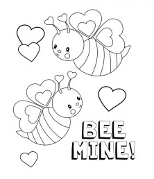 Valentines Coloring Pages Printable for Kids 14286