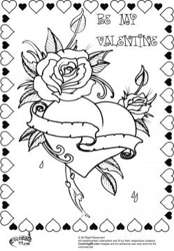 Valentines Online Coloring Pages to Print Out 12674