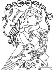 Valentines Online Coloring Pages to Print Out 86371